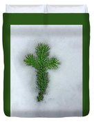 Evergreen Snow Cross Duvet Cover