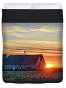 Evergreen Sunset Duvet Cover