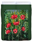 Every Dream Turns Up Poppies Duvet Cover