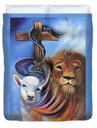 Every Knee Shall Bow Duvet Cover