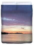 Every Morning Is Different - Toronto Skyline With An Awesome Cloudbank Duvet Cover