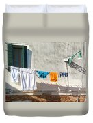 Everyday Life In Venice Duvet Cover