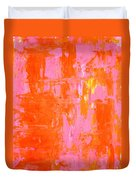 Everyone's Fav - Pink And Orange Abstract Art Painting Duvet Cover