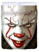 Evil Clown Duvet Cover