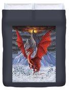 Evil Red Dragon Duvet Cover