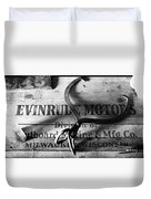 Evinrude Motors Crate Circa 1940s Duvet Cover