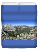 Evolution Lake And Valley Panorama From Darwin Bench - Sierra Duvet Cover