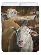 Ewes In The Paddock Duvet Cover