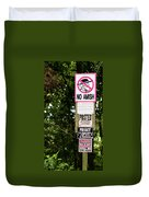 Excessive Property Signs Duvet Cover