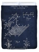 Exercise Machine Patent From 1961 - Navy Blue Duvet Cover