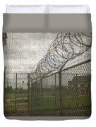 Exercise Yard Through Window In Prison Duvet Cover