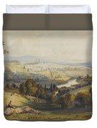 Exeter From Exwick, 1773 Duvet Cover