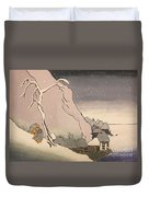 Exiled Buddhist Cleric Nichiren In The Snow Duvet Cover