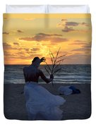 Exorcism Facing The Sea Duvet Cover