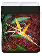 Exotic Bird Of Paradise Duvet Cover