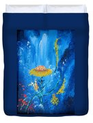 Exotic Colorful Flowers Abstract Composition Duvet Cover