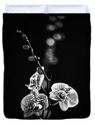 Exotic Orchid Bw Duvet Cover