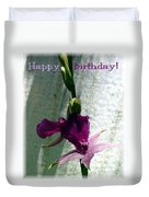 Exotic Purple Birthday Wishes Duvet Cover