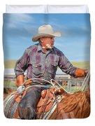 Experienced Cowboy Duvet Cover