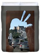 Experiencing Welly Through Art Duvet Cover