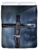 Experimental Crucifix In The Light Duvet Cover