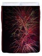 Exploding Festive Fireworks Duvet Cover