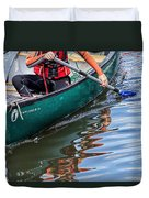 Exploring Along The Exeter Canal Duvet Cover