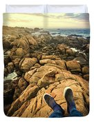 Exploring The Beaches Of Western Tasmania Duvet Cover