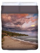 Explosion Of Colored Clouds Duvet Cover