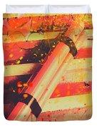 Explosive Comic Art Duvet Cover