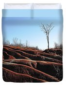 Exposed And Eroded Badlands Duvet Cover