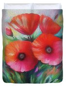 Expressionist Poppies Duvet Cover