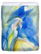 Extended Trot In Blue Duvet Cover