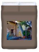 Exterior Wall Of Serra Chapel Mission San Juan Capistrano California Duvet Cover