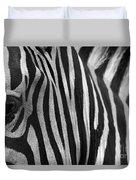 Extreme Close Up Of A Zebra Duvet Cover