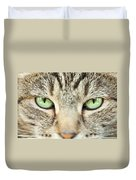 Extreme Close Up Tabby Cat Duvet Cover