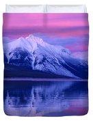 Extreme Sunset On Lake Mcdonald Duvet Cover