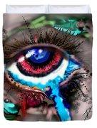 Eye Ball Study One Duvet Cover