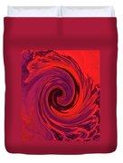 Eye Of The Honu - Red Duvet Cover