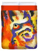Eye Of The Tiger Duvet Cover by Stephen Anderson