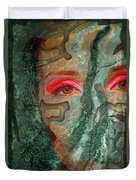 Eyes Of Emerald Duvet Cover
