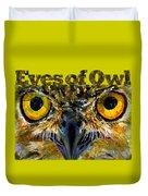 Eyes Of Owls 18 Shirt Duvet Cover