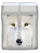 Eyes Of The Wolf Duvet Cover