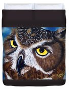 Eyes Of Wisdom Duvet Cover