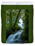 Eyes Over The Flowing Water Duvet Cover