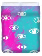 Eyes, The Look Duvet Cover