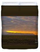 Eyjafjallajokull Sunrise Iceland Duvet Cover