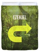 Ezekiel Books Of The Bible Series Old Testament Minimal Poster Art Number 26 Duvet Cover