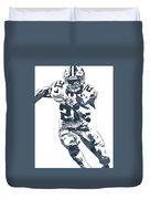 Ezekiel Elliott Dallas Cowboys Pixel Art 3 Duvet Cover