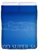 F-100d Super Sabre Blueprint Duvet Cover